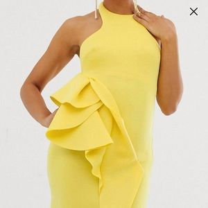 Vibrant yellow cocktail dress